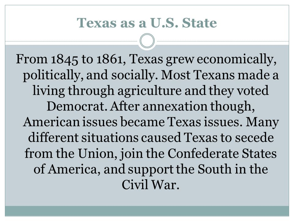 Texas as a U.S. State