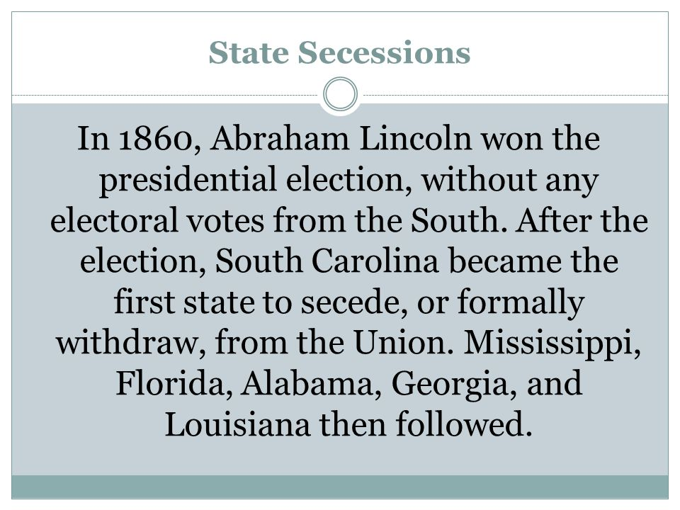State Secessions