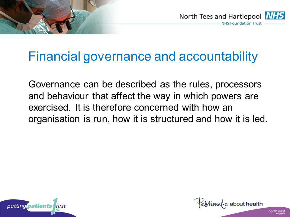 Financial governance and accountability
