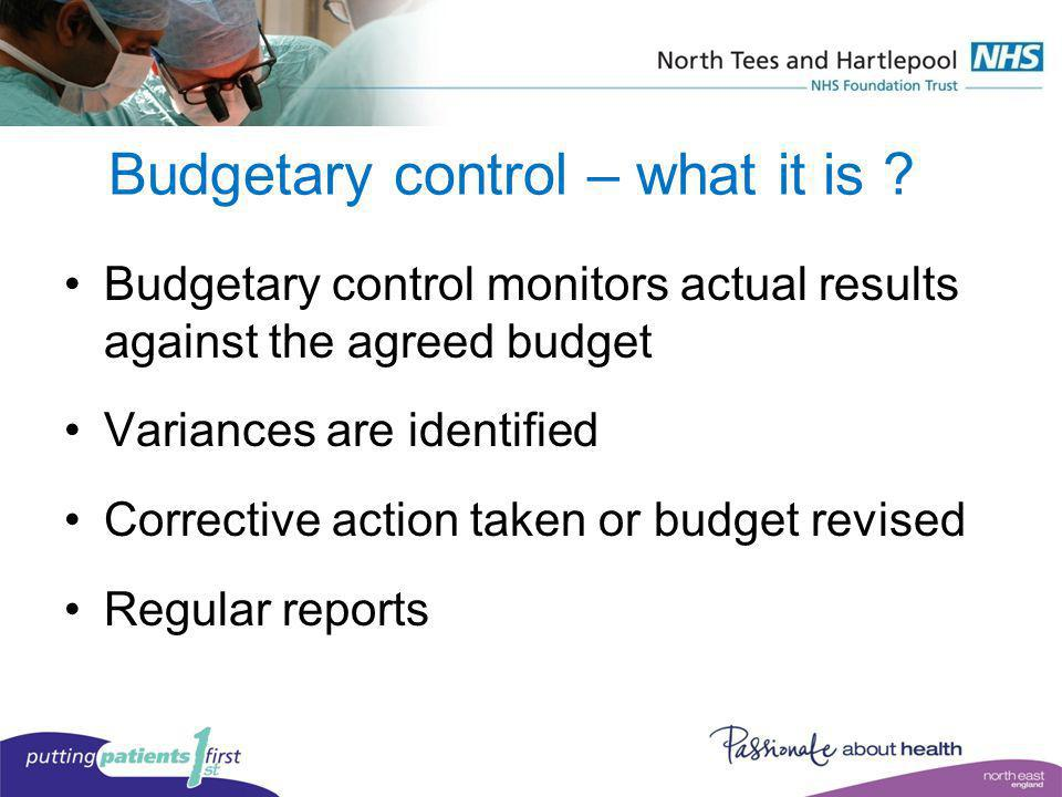 Budgetary control – what it is