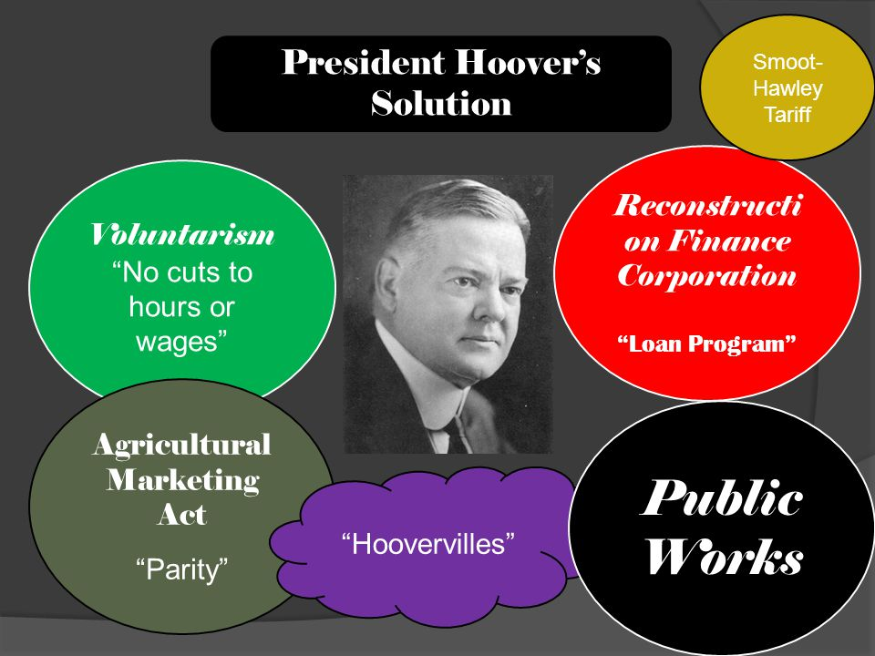 Public Works President Hoover's Solution