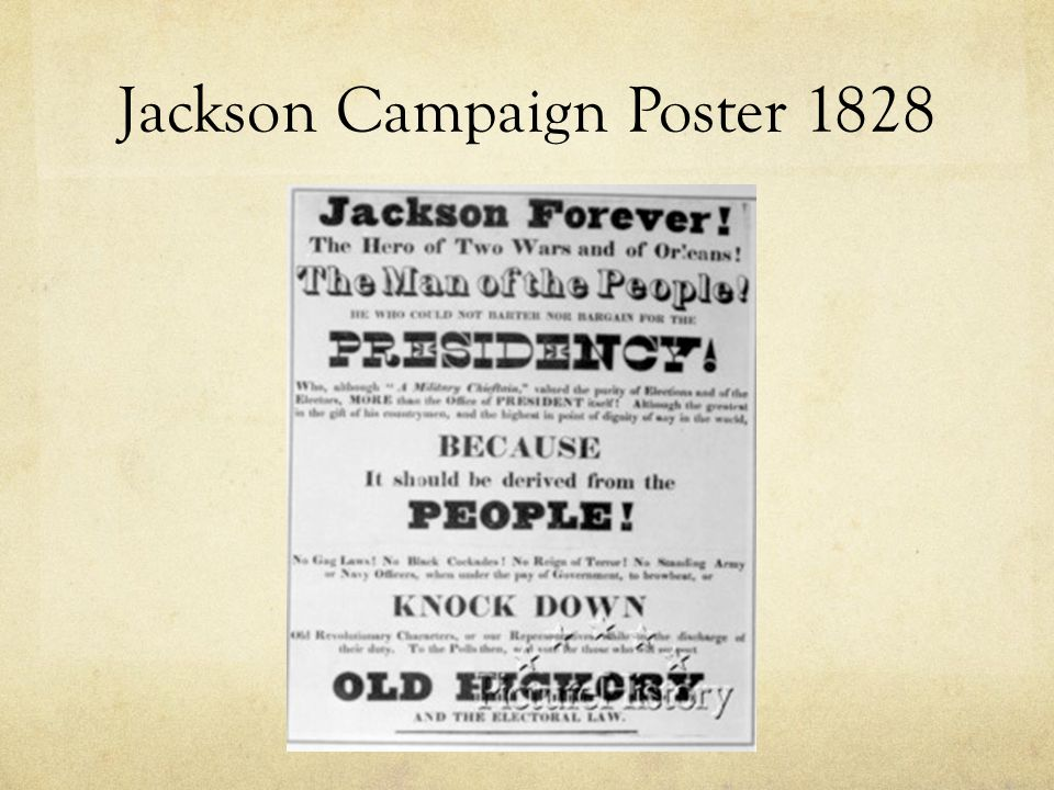 Jackson Campaign Poster 1828