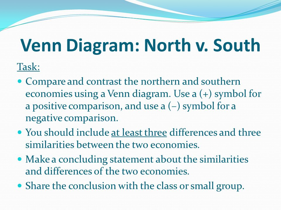 Venn Diagram: North v. South