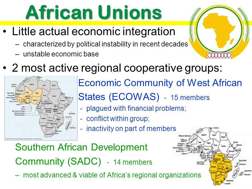 African Unions Little actual economic integration
