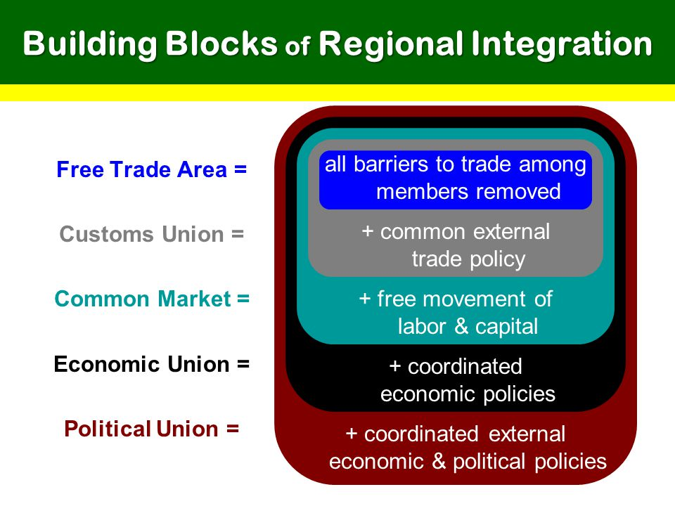 Building Blocks of Regional Integration