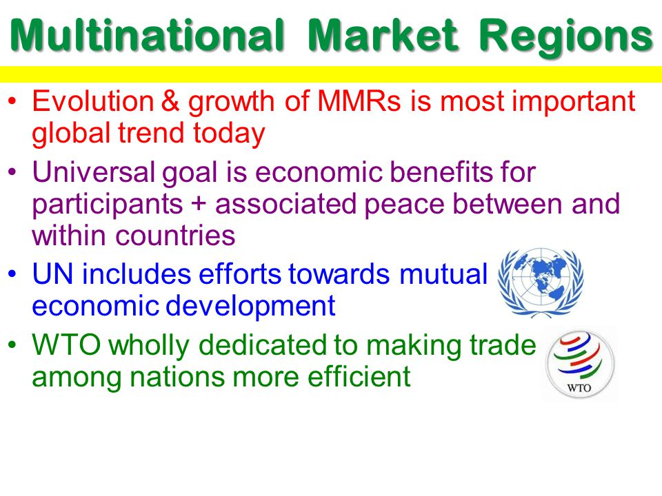 Multinational Market Regions
