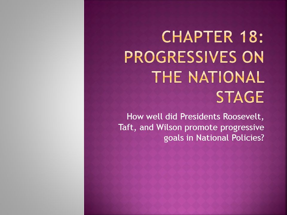 Chapter 18: Progressives on the National Stage