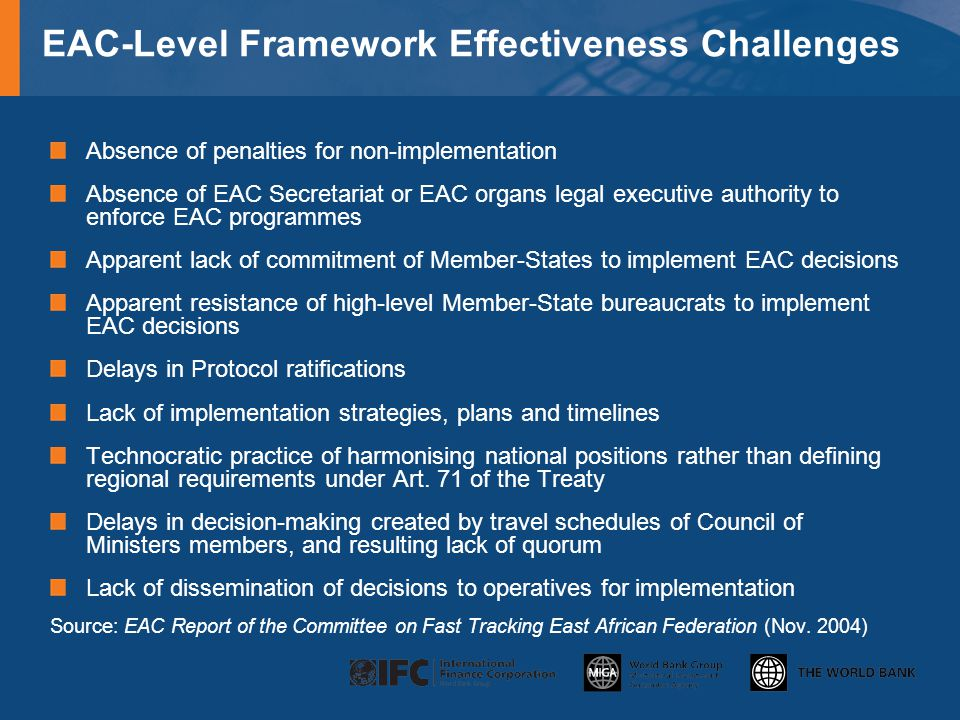 EAC-Level Framework Effectiveness Challenges