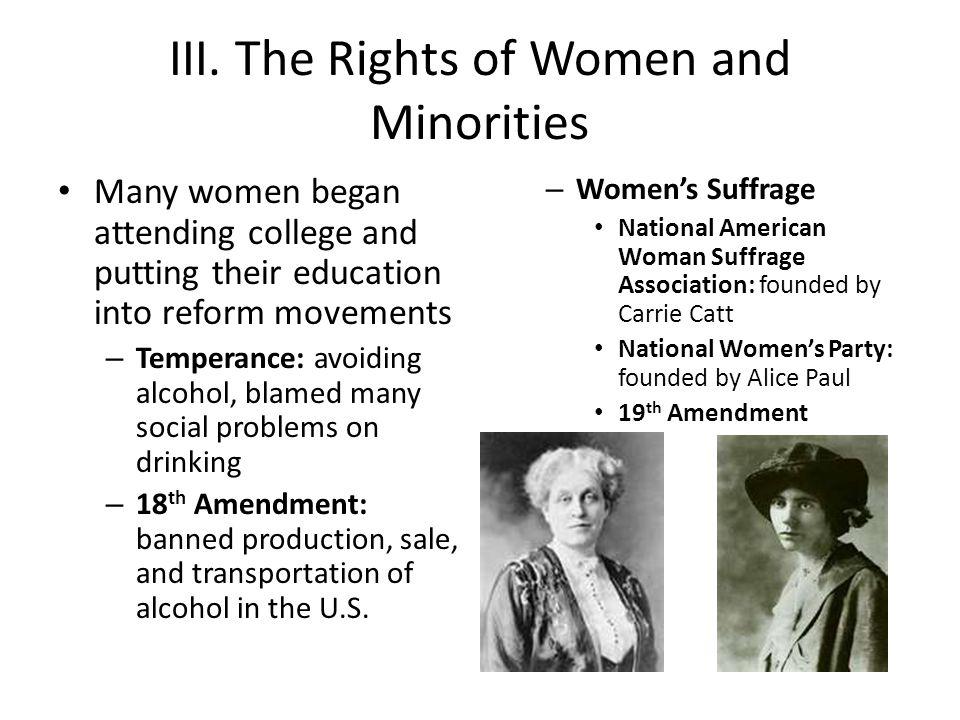 III. The Rights of Women and Minorities