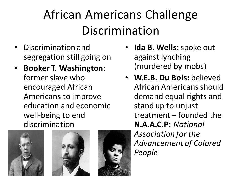 African Americans Challenge Discrimination
