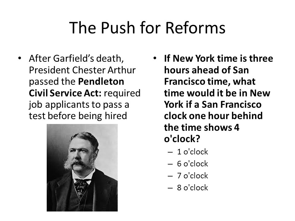 The Push for Reforms