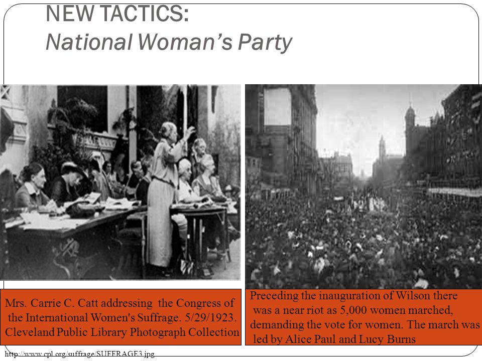 NEW TACTICS: National Woman's Party