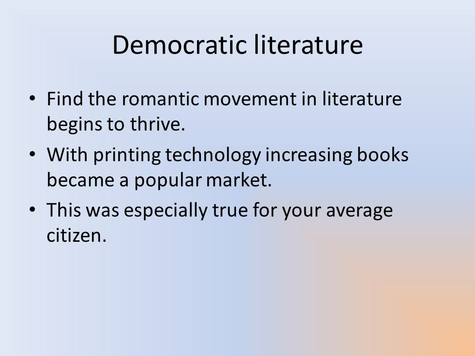 Democratic literature