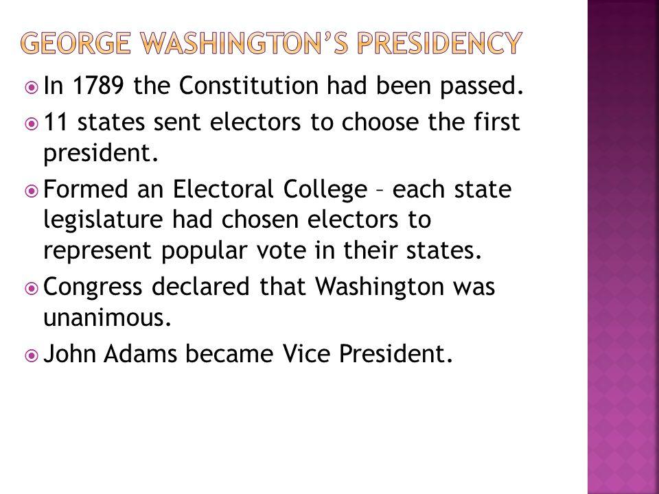 George Washington's presidency