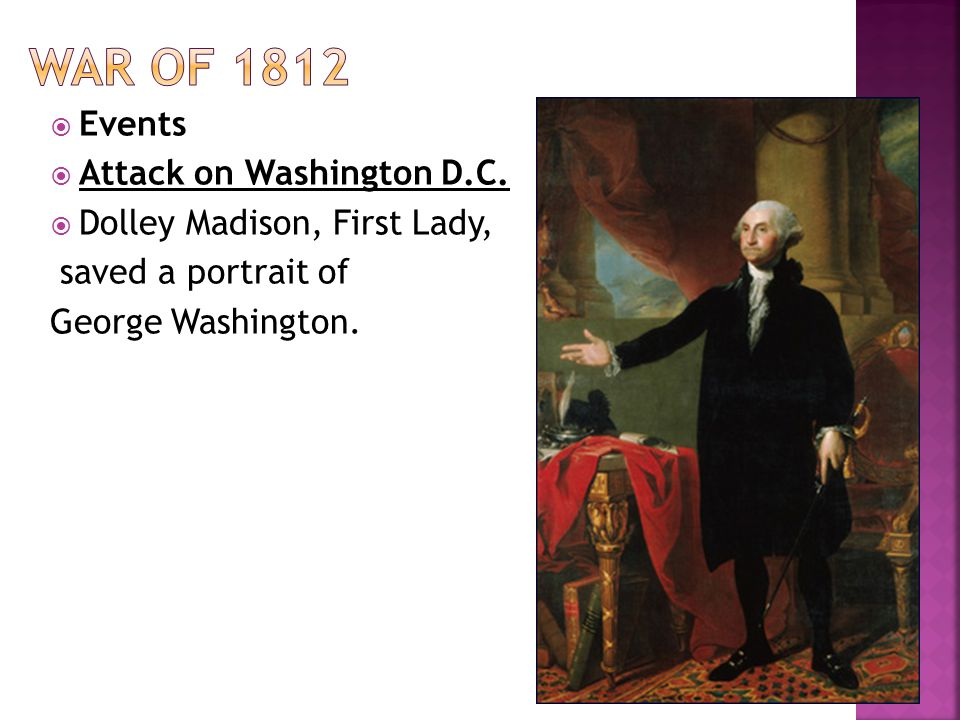 War of 1812 Events Attack on Washington D.C.