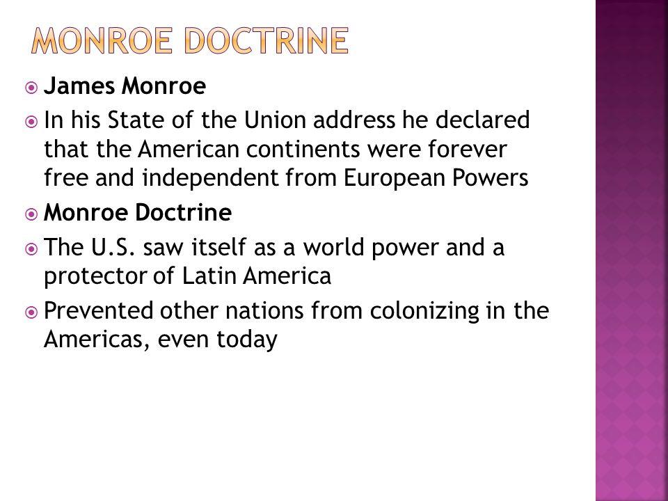 Monroe Doctrine James Monroe