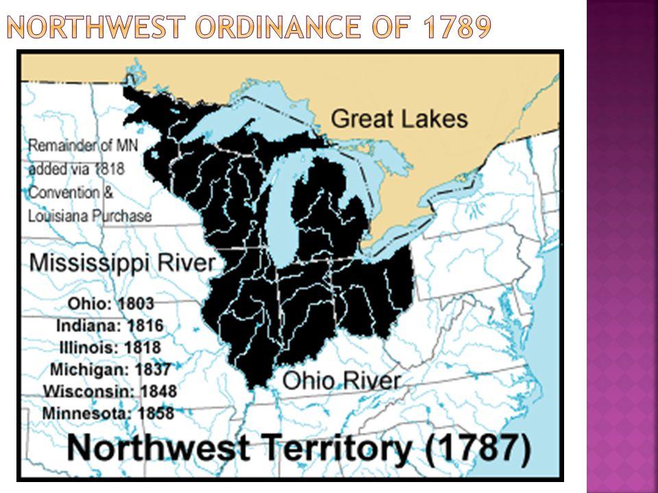 Northwest ordinance of 1789