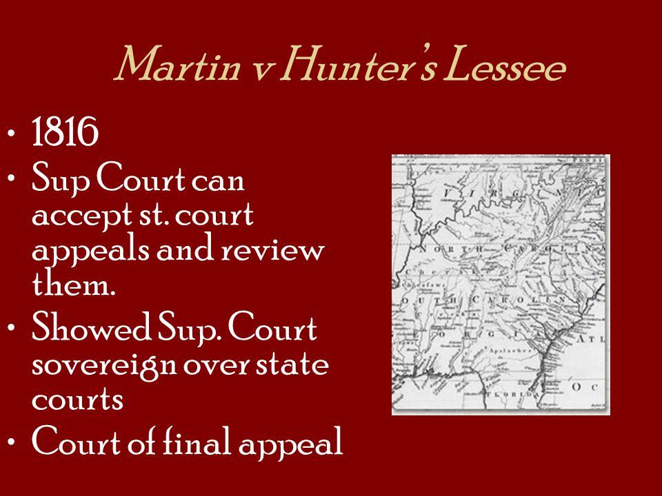 Martin v Hunter's Lessee