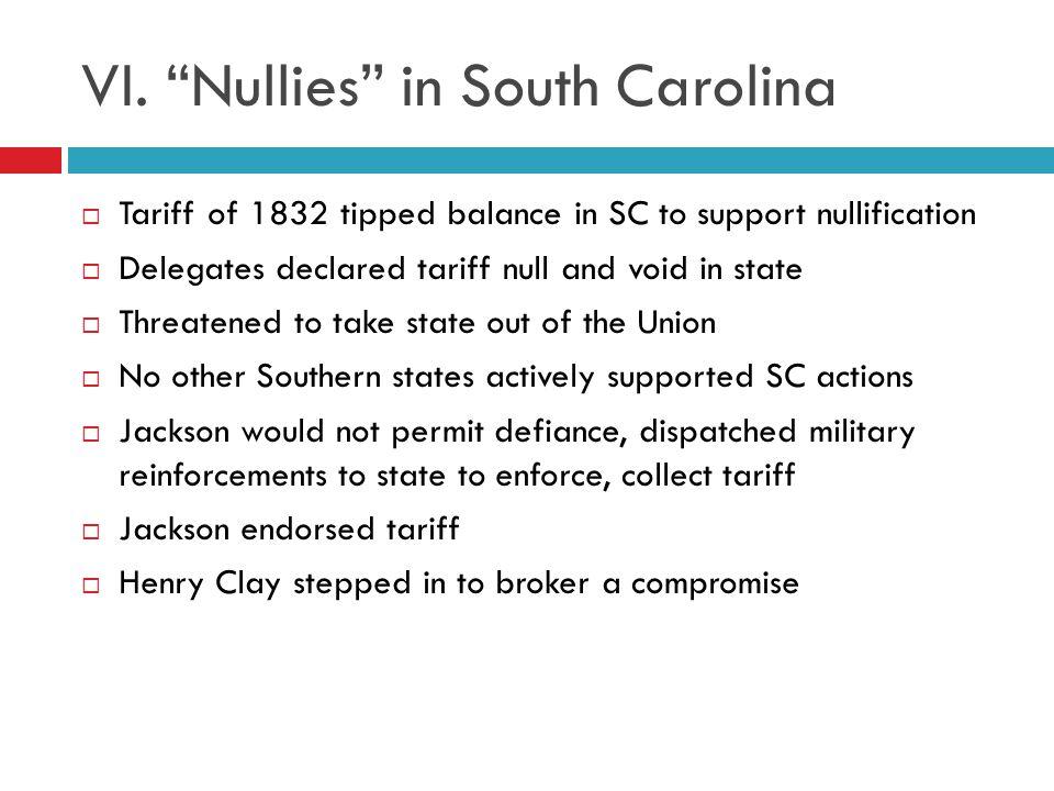 VI. Nullies in South Carolina