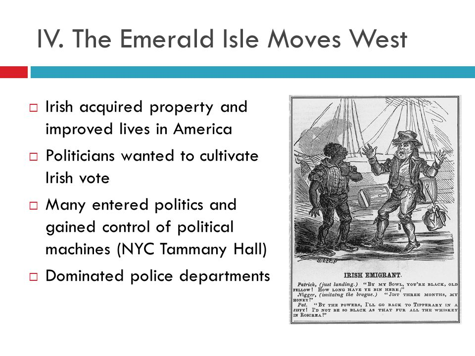 IV. The Emerald Isle Moves West