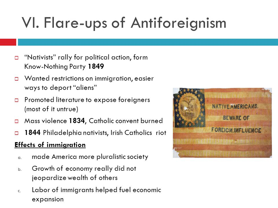 VI. Flare-ups of Antiforeignism