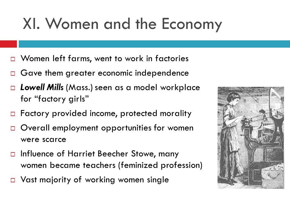 XI. Women and the Economy