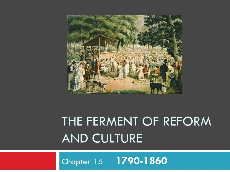 The Ferment of Reform And Culture