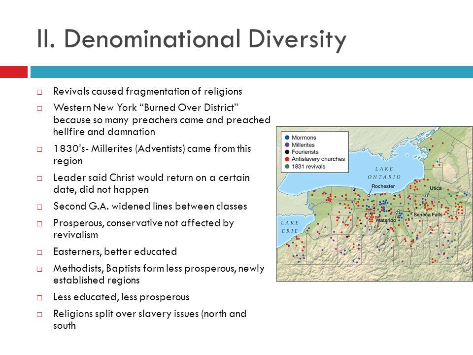 II. Denominational Diversity