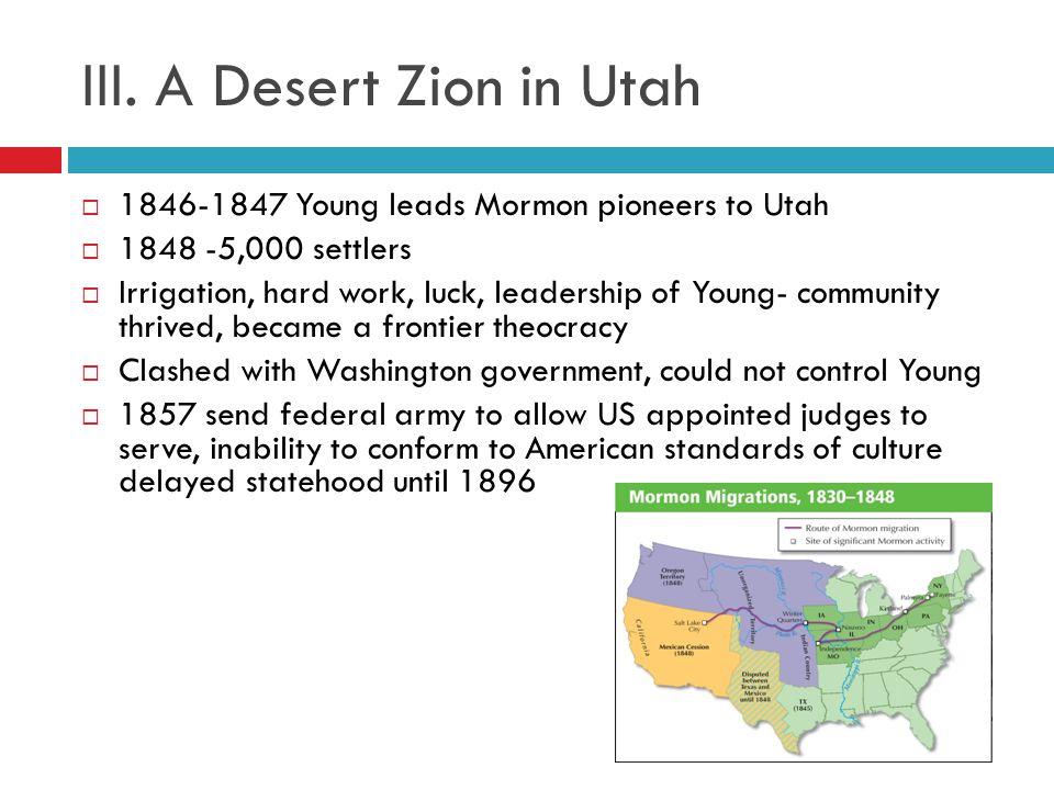 III. A Desert Zion in Utah