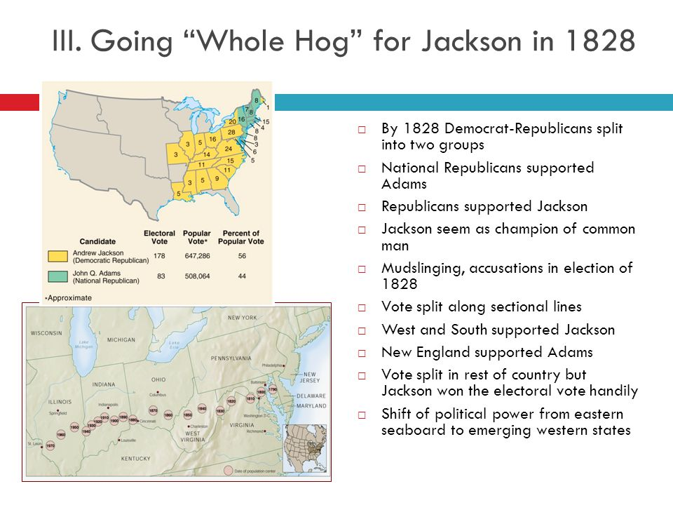 III. Going Whole Hog for Jackson in 1828