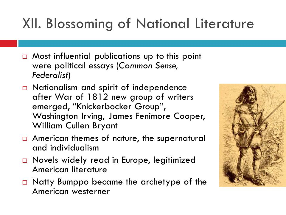 XII. Blossoming of National Literature