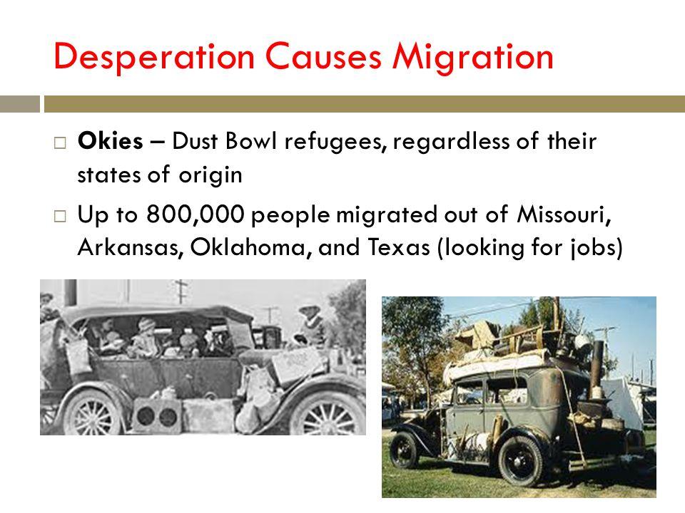 Desperation Causes Migration