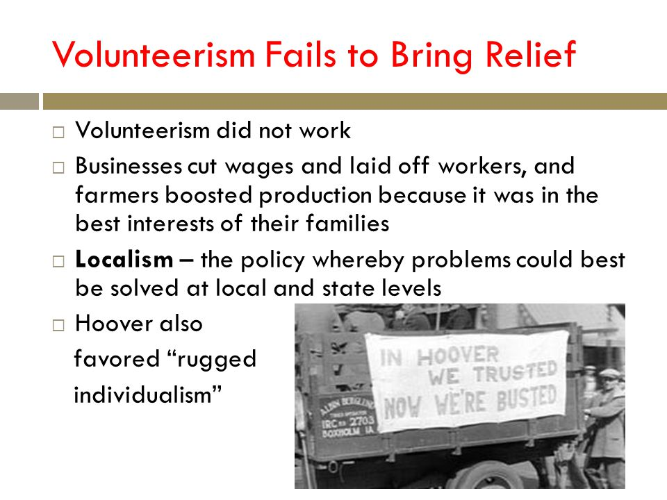 Volunteerism Fails to Bring Relief