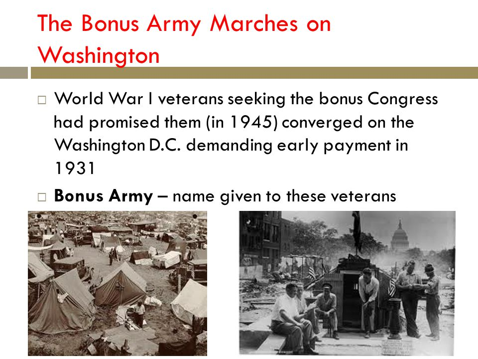 The Bonus Army Marches on Washington