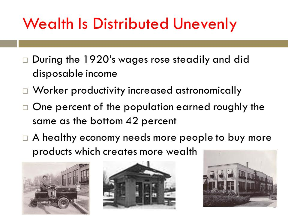 Wealth Is Distributed Unevenly