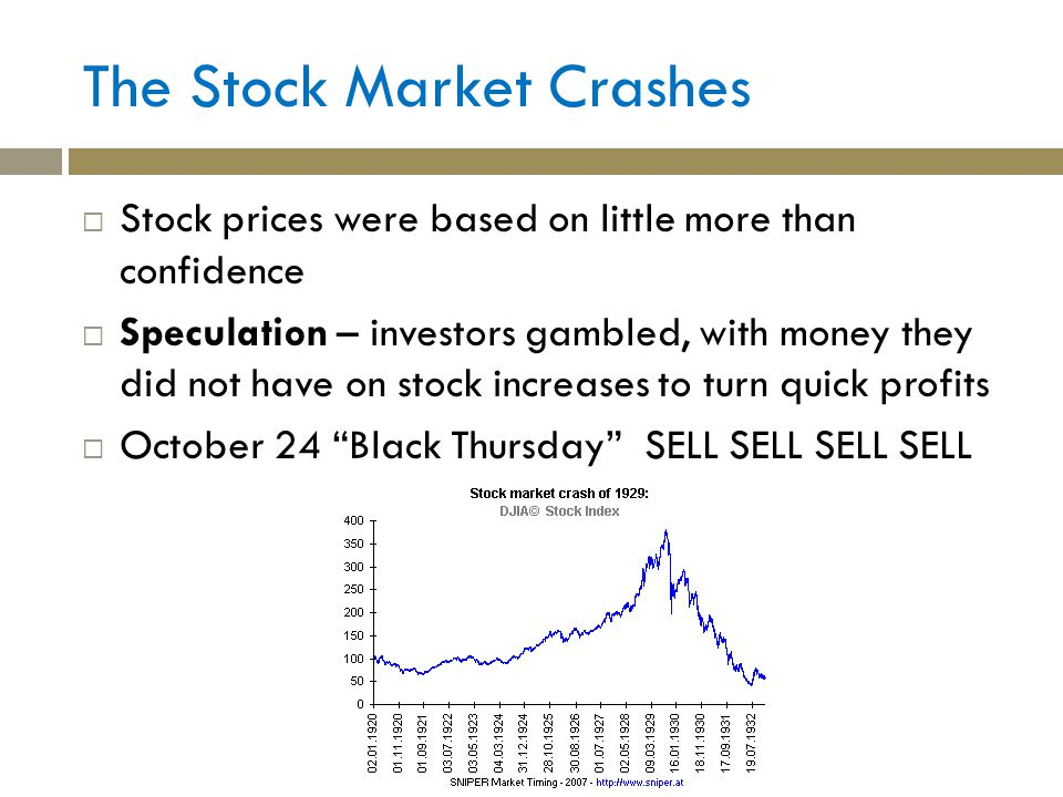 The Stock Market Crashes