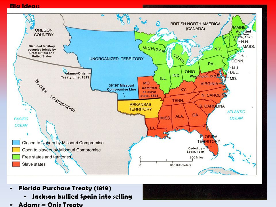 Big Ideas: 7) Westward Expansion raises questions. Needed cheap money from state banks. Needed cheap land.