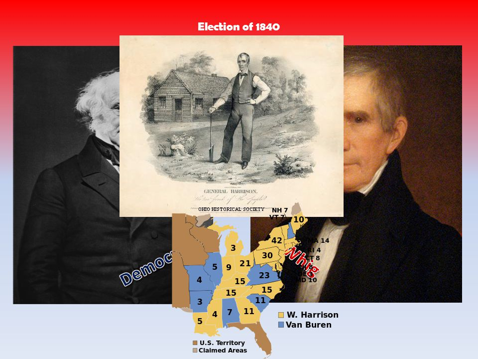 Election of 1840 Democratic Whig
