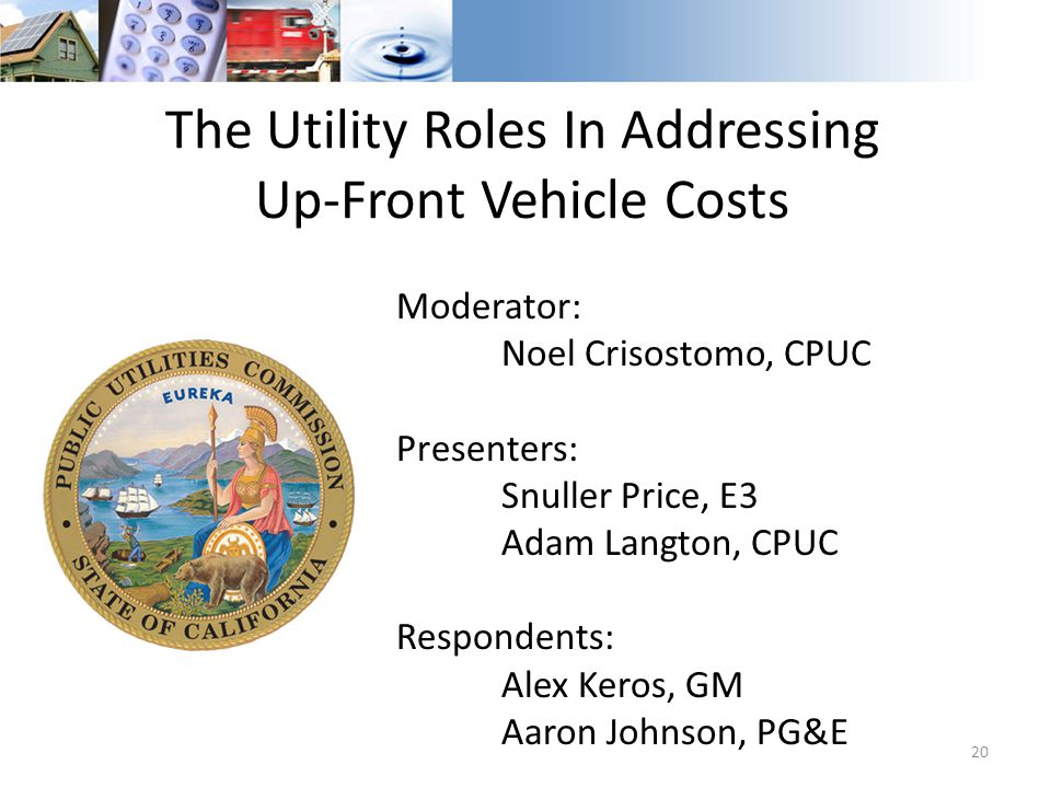 The Utility Roles In Addressing Up-Front Vehicle Costs