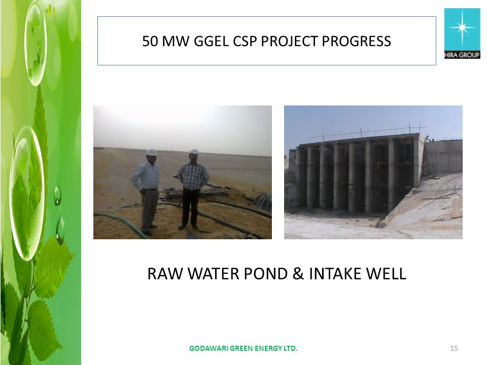 RAW WATER POND & INTAKE WELL