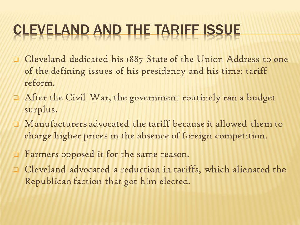 Cleveland and the Tariff Issue