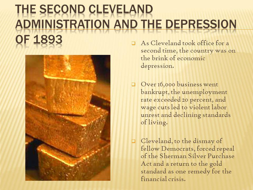 The Second Cleveland Administration and the Depression of 1893