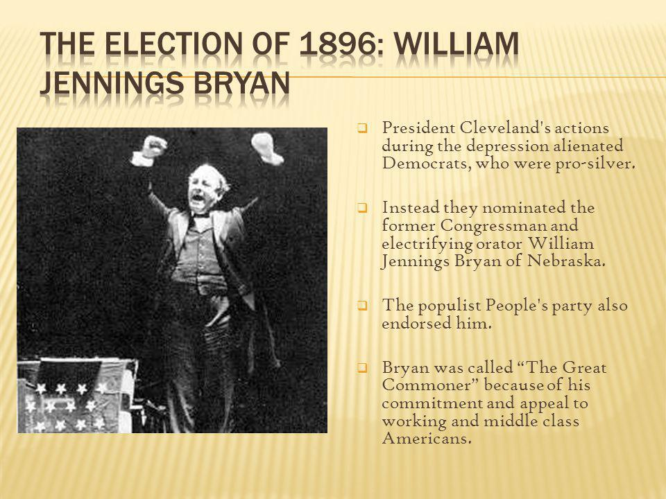 The Election of 1896: William Jennings Bryan