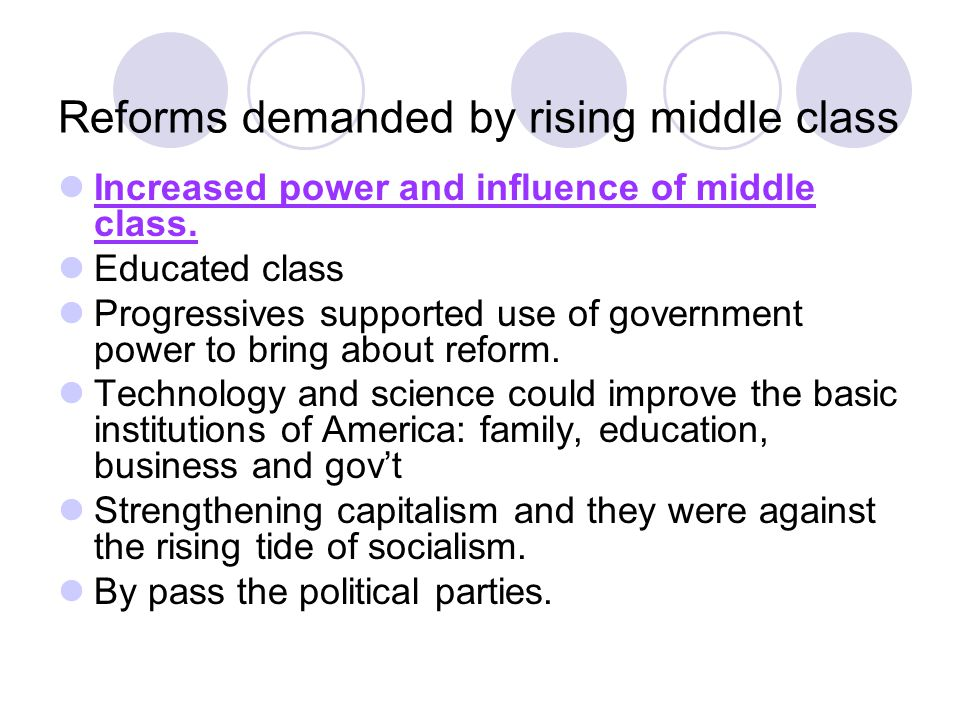 Reforms demanded by rising middle class