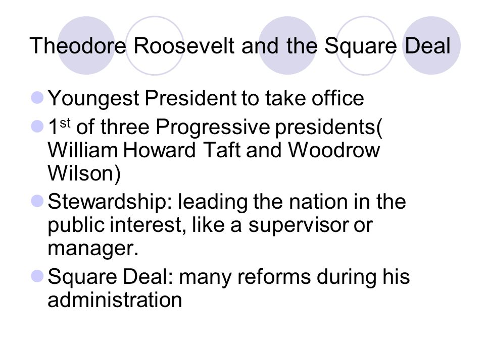 Theodore Roosevelt and the Square Deal