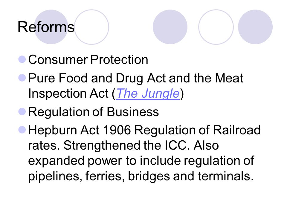 Reforms Consumer Protection