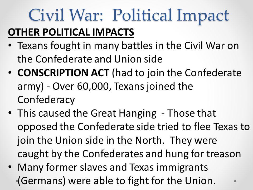Civil War: Political Impact