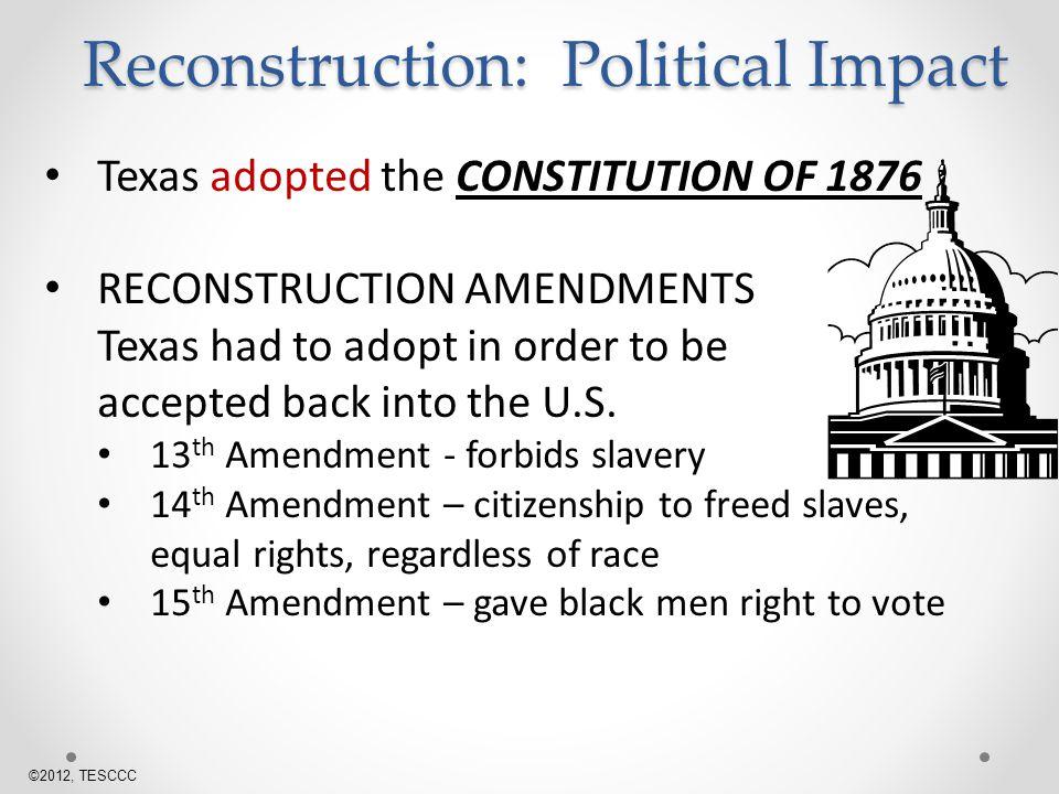 Reconstruction: Political Impact