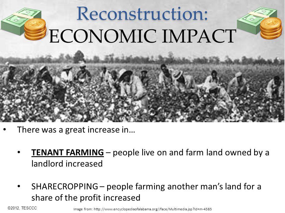 Reconstruction: ECONOMIC IMPACT