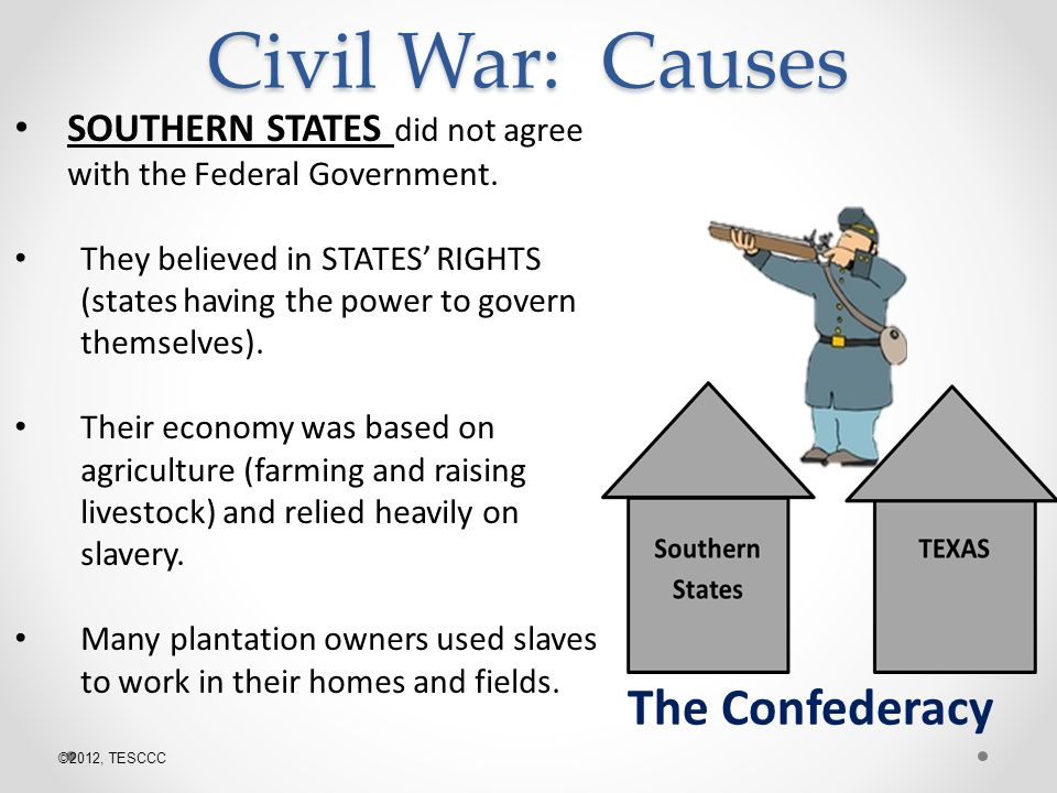 Civil War: Causes The Confederacy